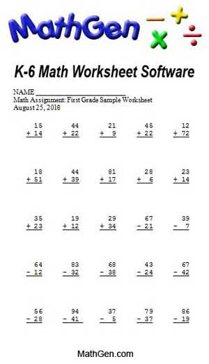 Math worksheets for k 6 math help free math worksheet software and ...