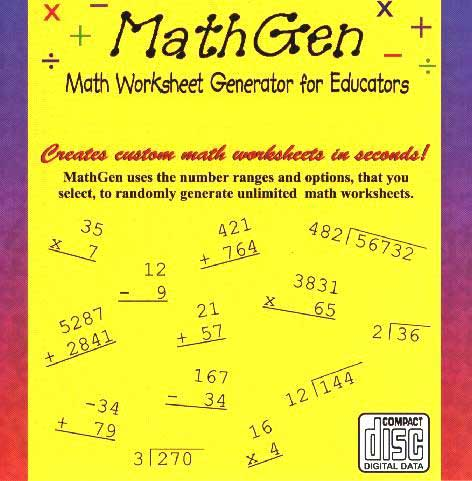 MathGen Windows Software CD